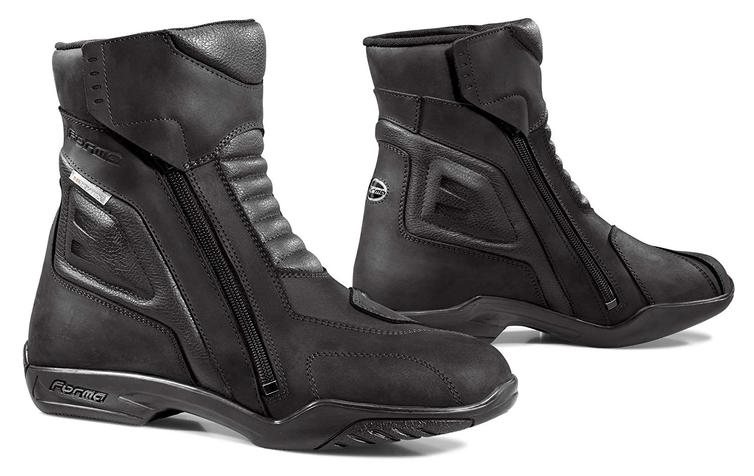 Forma Latino Leather Motorcycle Boots 48 Black (UK 14)