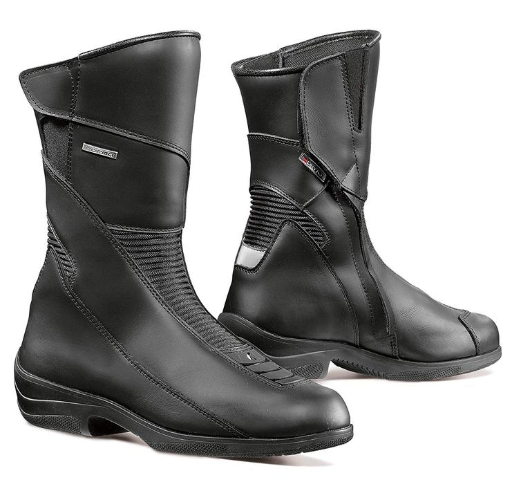 Forma Simo Ladies Leather Motorcycle Boots 36 Black (UK 2)