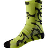"20945-069-S/M - Fox Racing 8"" Print Sock S/M Yellow Black"