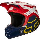 Fox Racing V2 Preme Motocross Helmet M Navy Red