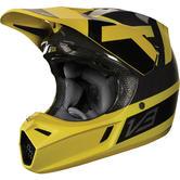 Fox Racing V3 Preest Motocross Helmet L Dark Yellow