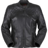 Furygan Legend Ladies Leather Motorcycle Jacket L Black