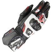 Furygan Fit-R 2 Leather Motorcycle Gloves M Black White Red
