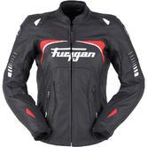 Furygan Ginger Ladies Motorcycle Jacket XL Black White Red