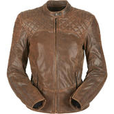Furygan Legend Ladies Motorcycle Jacket L Brown