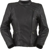 Furygan Sandy Ladies Leather Motorcycle Jacket L Black