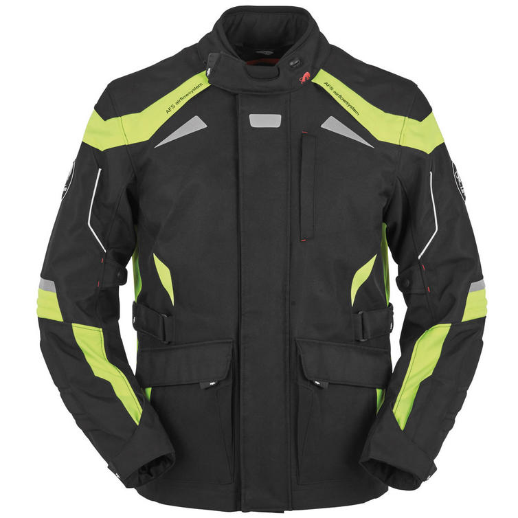 Furygan WR-16 Motorcycle Jacket L Black Yellow Fluo