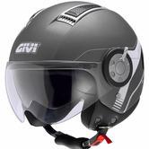 Givi HPS 11.1 Air Demi Jet Open Face Motorcycle Helmet XS Titanium