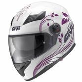 Givi HPS 50.4B Ninphea Full Face Motorcycle Helmet XS White Purple