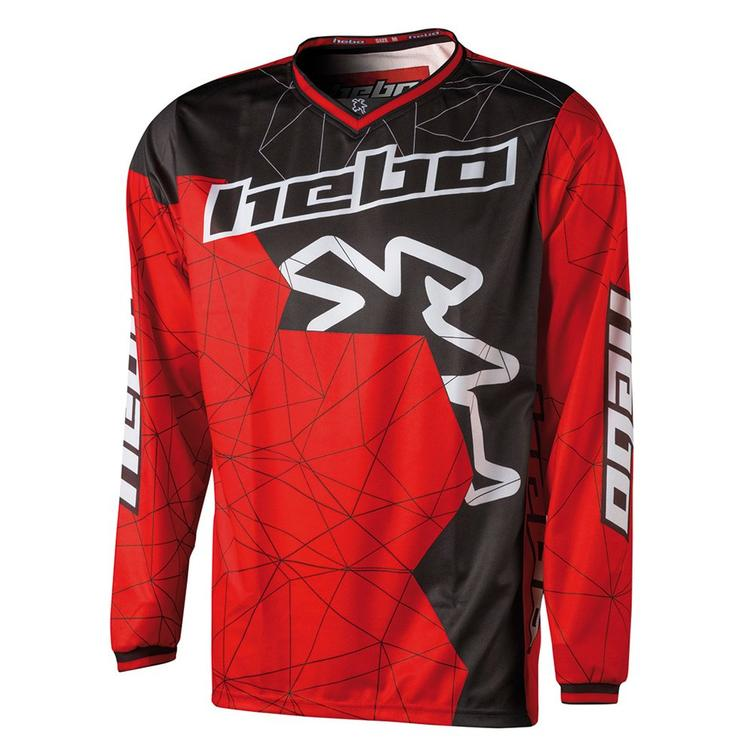 Hebo End-Cross Sway Motocrosss Jersey S Red