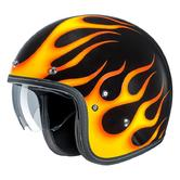 HJC FG-70S Aries Open Face Motorcycle Helmet L Black Yellow