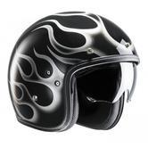 HJC FG-70S Aries Open Face Motorcycle Helmet XL Black White