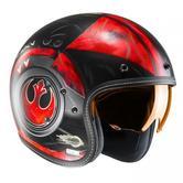 HJC FG-70S Poe Dameron Star Wars Open Face Motorcycle Helmet L Black White Red