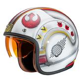 HJC FG-70S X-Wing Fighter Pilot Open Face Motorcycle Helmet XL White Red Yellow
