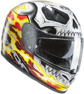 HJC FG-ST Ghost Rider Motorcycle Helmet L White Red Yellow (MC1)