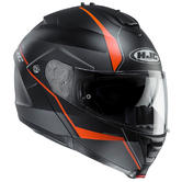 HJC IS-MAX II Mine Flip Front Motorcycle Helmet XS Black Orange (MC7SF)