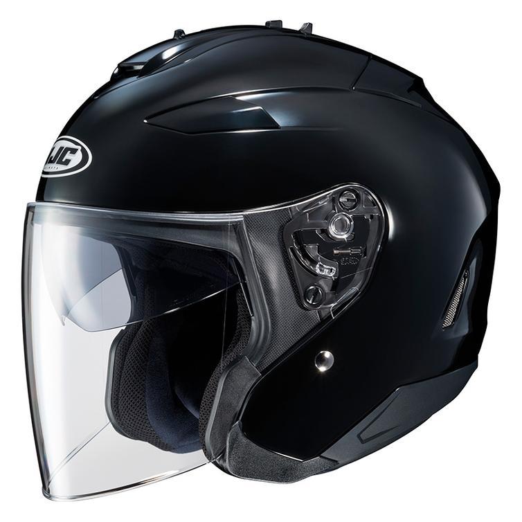 Flat-Matte Black New HJC CL-Jet Open Face Polycarbonate Composite Helmet XL