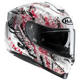 HJC RPHA 70 Hanoke Ladies Motorcycle Helmet L White Black Red (MC1SF)