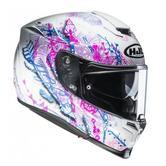 HJC RPHA 70 Hanoke Ladies Motorcycle Helmet S White Pink Blue