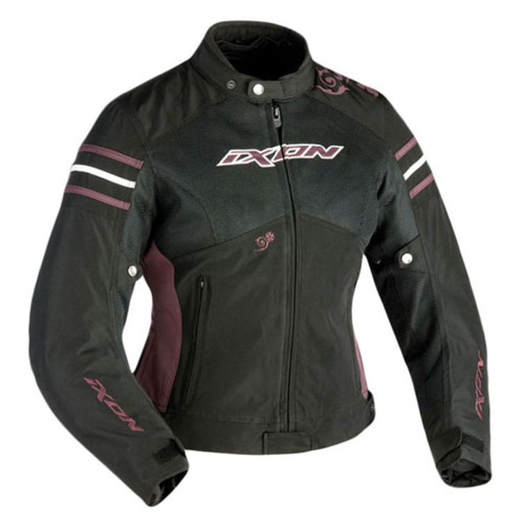 Ixon Electra Ladies Motorcycle Jacket XXL Black Aubergine