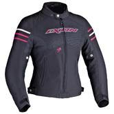 Ixon Electra Ladies Motorcycle Jacket L Black Fuchsia