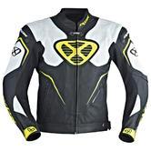 Ixon Orcus Men's Motorcycle Jacket 4XL Black White Yellow