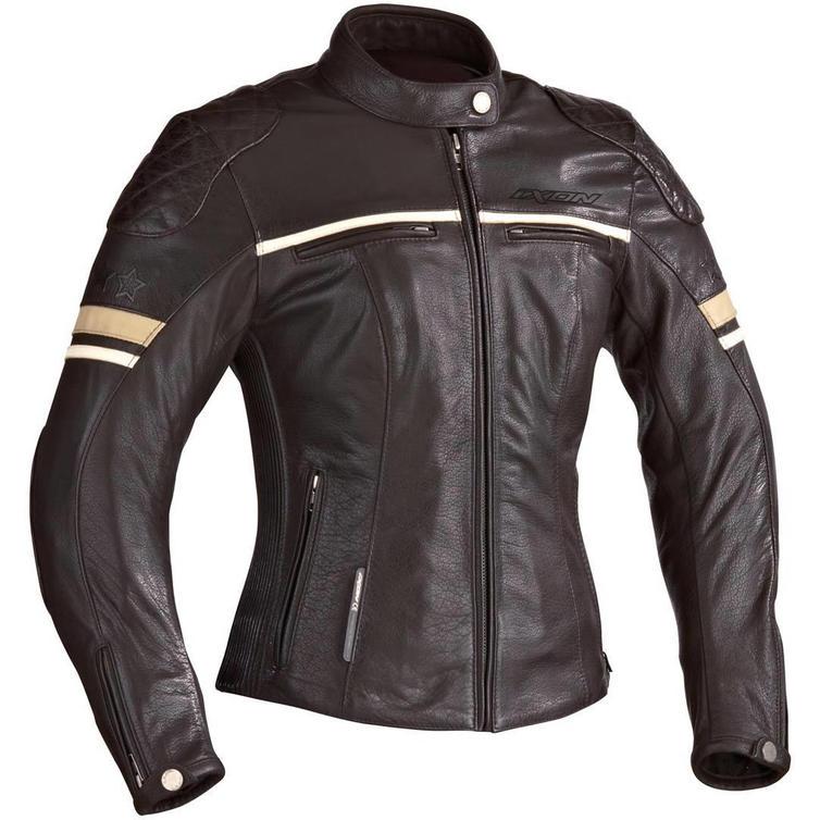 Ixon Motors Ladies Motorcycle Jacket S Brown