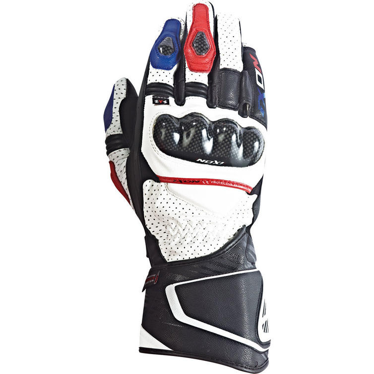 Ixon RS Circuit HP Motorcycle Gloves M White