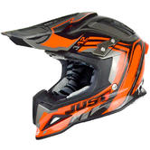 Just1 J12 Flame Motocross Helmet M Black Orange