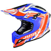 Just1 J12 Flame Motocross Helmet S Red Blue