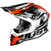 JUST1 J12 Dominator Carbon Motocross Helmet XL White Red