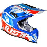 Just1 J12 Dominator Carbon Motocross Helmet L White Red Blue