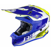JUST1 J32 Pro Kick Youth YS Motocross Helmet White Blue Yellow