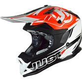 Just1 J32 Pro Rave Motocross Helmet M Black Orange
