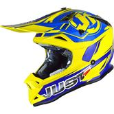 Just1 J32 Pro Rave Motocross Helmet M Matt Blue Yellow
