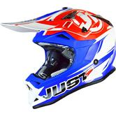 Just1 J32 Pro Rave Motocross Helmet M Matt Blue Red