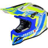 JUST1 J12 Flame Motocross Helmet M Yellow Blue