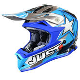 Just1 J32 Pro Moto X Motocross Helmet XL Blue