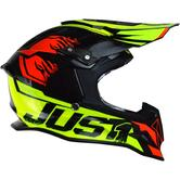 Just1 J12 Dominator Motocross Helmet S Red Lime