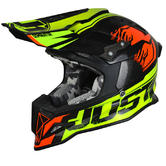 Just1 J12 Dominator Carbon Motocross Helmet L Red Lime