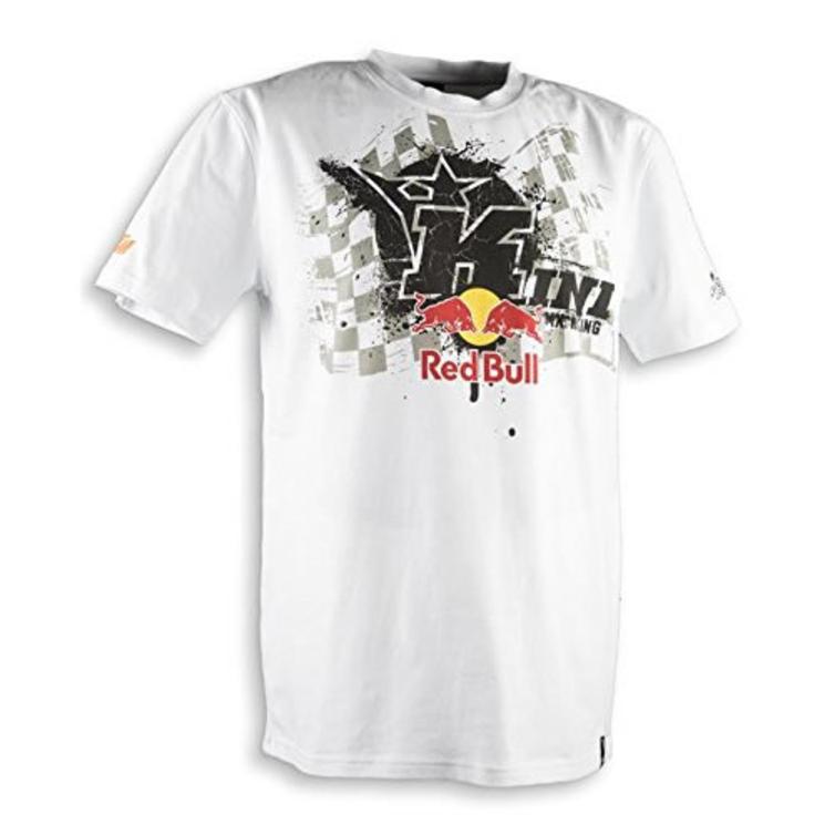Kini Red Bull Overspray Motorcycle T-Shirt M White