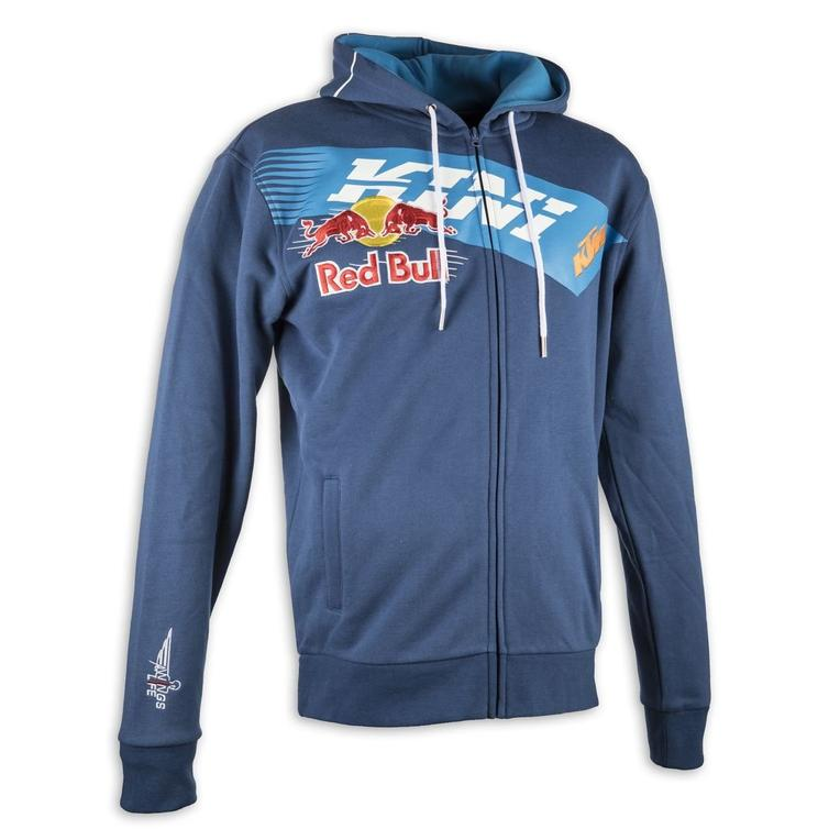 Kini Red Bull Kids Athletic Motorcycle Hoodie S Blue