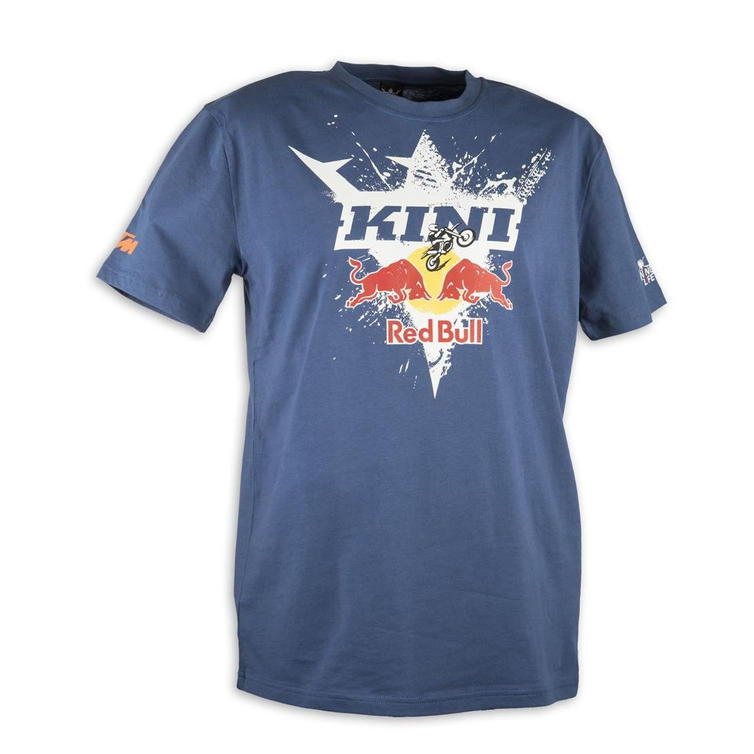 Kini Red Bull Motorcycle T-Shirt S Blue