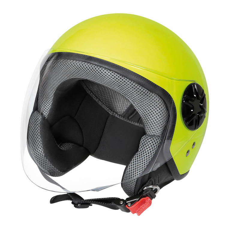 Lampa LD-3 Demijet Open-Face Motorcycle Helmet XS Fluo Yellow