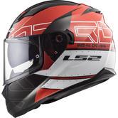 LS2 FF320 Stream Evo Kub Motorcycle Helmet M Red Black