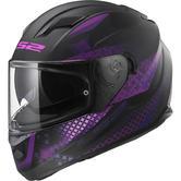 LS2 FF320 Stream Evo Lux Motorcycle Helmet XL Matt Black Pink