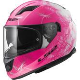 LS2 FF320 Stream Evo Wind Motorcycle Helmet XS White Fluo Pink