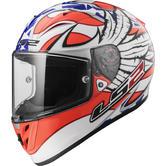 LS2 FF323 Arrow R Evo Freedom Motorcycle Helmet M White Orange Blue