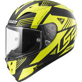 LS2 FF323 Arrow R Evo Neon Motorcycle Helmet M Matt Black Gloss Hi-Viz Yellow