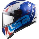 LS2 FF323 Arrow R Evo Techno Motorcycle Helmet XL White Blue